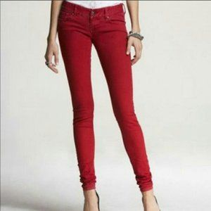Express Red Skinny Jean size 4